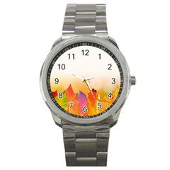 Autumn Leaves Colorful Fall Foliage Sport Metal Watch by Amaryn4rt