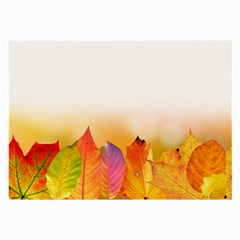 Autumn Leaves Colorful Fall Foliage Large Glasses Cloth by Amaryn4rt
