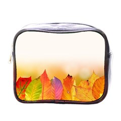 Autumn Leaves Colorful Fall Foliage Mini Toiletries Bags by Amaryn4rt