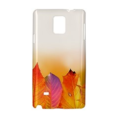 Autumn Leaves Colorful Fall Foliage Samsung Galaxy Note 4 Hardshell Case by Amaryn4rt