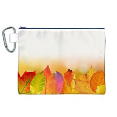 Autumn Leaves Colorful Fall Foliage Canvas Cosmetic Bag (xl) by Amaryn4rt