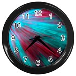Background Texture Pattern Design Wall Clocks (Black)