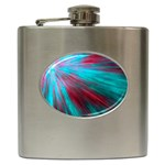 Background Texture Pattern Design Hip Flask (6 oz)