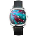 Background Texture Pattern Design Square Metal Watch