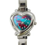 Background Texture Pattern Design Heart Italian Charm Watch
