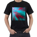 Background Texture Pattern Design Men s T-Shirt (Black) (Two Sided)