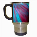 Background Texture Pattern Design Travel Mugs (White)