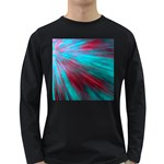 Background Texture Pattern Design Long Sleeve Dark T-Shirts