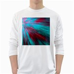 Background Texture Pattern Design White Long Sleeve T-Shirts