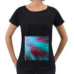 Background Texture Pattern Design Women s Loose-Fit T-Shirt (Black)
