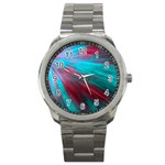 Background Texture Pattern Design Sport Metal Watch