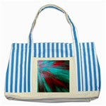 Background Texture Pattern Design Striped Blue Tote Bag