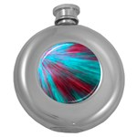 Background Texture Pattern Design Round Hip Flask (5 oz)