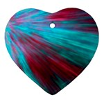 Background Texture Pattern Design Heart Ornament (2 Sides)