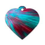 Background Texture Pattern Design Dog Tag Heart (One Side)