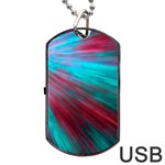 Background Texture Pattern Design Dog Tag USB Flash (One Side)