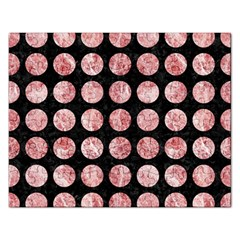 Circles1 Black Marble & Red & White Marble Jigsaw Puzzle (rectangular) by trendistuff