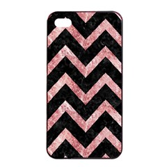 Chevron9 Black Marble & Red & White Marble Apple Iphone 4/4s Seamless Case (black) by trendistuff