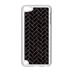 Brick2 Black Marble & Red & White Marble Apple Ipod Touch 5 Case (white) by trendistuff