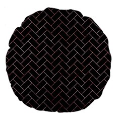 Brick2 Black Marble & Red & White Marble Large 18  Premium Flano Round Cushion  by trendistuff