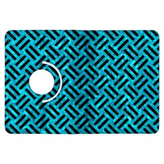 Woven2 Black Marble & Turquoise Marble (r) Kindle Fire Hdx Flip 360 Case by trendistuff