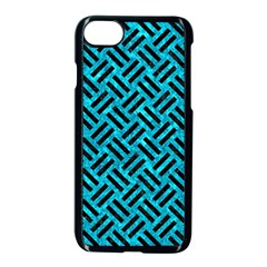 Woven2 Black Marble & Turquoise Marble (r) Apple Iphone 7 Seamless Case (black) by trendistuff