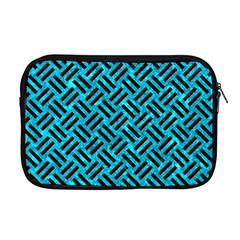 Woven2 Black Marble & Turquoise Marble (r) Apple Macbook Pro 17  Zipper Case