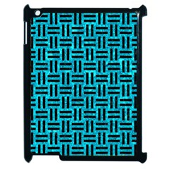 Woven1 Black Marble & Turquoise Marble (r) Apple Ipad 2 Case (black) by trendistuff