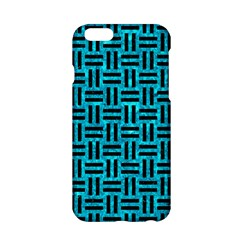 Woven1 Black Marble & Turquoise Marble (r) Apple Iphone 6/6s Hardshell Case by trendistuff