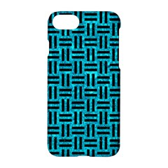 Woven1 Black Marble & Turquoise Marble (r) Apple Iphone 7 Hardshell Case by trendistuff
