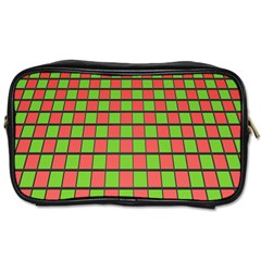 Green Red Box Toiletries Bags by Jojostore