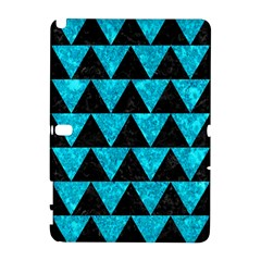 Triangle2 Black Marble & Turquoise Marble Samsung Galaxy Note 10 1 (p600) Hardshell Case by trendistuff