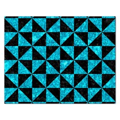 Triangle1 Black Marble & Turquoise Marble Jigsaw Puzzle (rectangular) by trendistuff