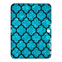 Tile1 Black Marble & Turquoise Marble (r) Samsung Galaxy Tab 4 (10 1 ) Hardshell Case  by trendistuff