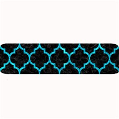 Tile1 Black Marble & Turquoise Marble Large Bar Mat by trendistuff