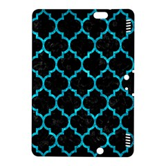 Tile1 Black Marble & Turquoise Marble Kindle Fire Hdx 8 9  Hardshell Case by trendistuff