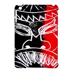 Mask Face Red Black Apple Ipad Mini Hardshell Case (compatible With Smart Cover) by Jojostore
