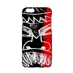 Mask Face Red Black Apple Iphone 6/6s Hardshell Case by Jojostore