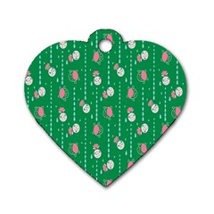 Pig Face Dog Tag Heart (one Side) by Jojostore