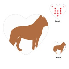 Australian Cattle Dog Silo Red Playing Cards (heart)  by TailWags