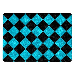 Square2 Black Marble & Turquoise Marble Samsung Galaxy Tab 10 1  P7500 Flip Case by trendistuff