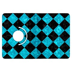 Square2 Black Marble & Turquoise Marble Kindle Fire Hdx Flip 360 Case by trendistuff