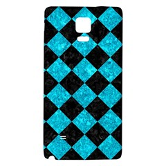 Square2 Black Marble & Turquoise Marble Samsung Note 4 Hardshell Back Case by trendistuff