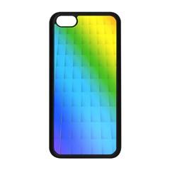 Rainbow Color Orange Yellow Green Purple Apple Iphone 5c Seamless Case (black) by Jojostore