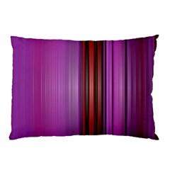Purple Line Rainbow Pillow Case by Jojostore