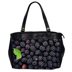 Blackberries Background Black Dark Office Handbags by Amaryn4rt