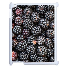 Blackberries Background Black Dark Apple Ipad 2 Case (white) by Amaryn4rt