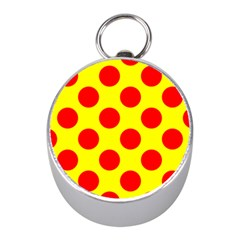 Red Circle Yellow Mini Silver Compasses by Jojostore
