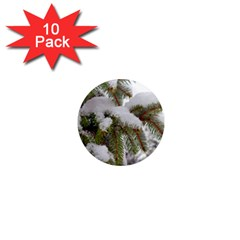 Brad Snow Winter White Green 1  Mini Magnet (10 Pack)  by Amaryn4rt