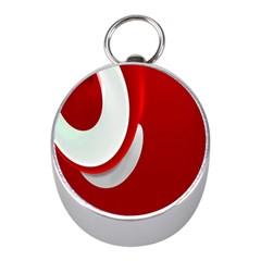 Red White Mini Silver Compasses by Jojostore